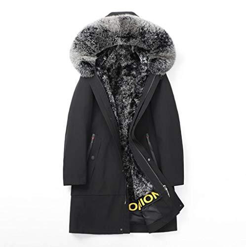 Mantel mantel, herfst en winter voor mannen lang donsjack met capuchon pluche liner windjack, mannen dikke warmte om wind en regen te overwinnen.