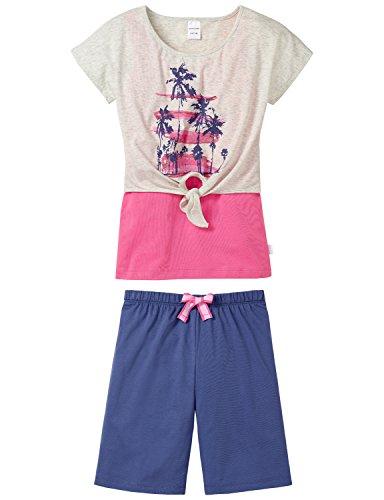 Schiesser Mädchen Anzug kz,Layering Zweiteiliger Schlafanzug, Grau (grau-Mel. 202), (Herstellergröße: 140)