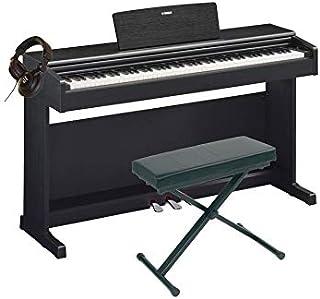 Pack Yamaha YDP-144 negro - Piano digital + asiento + casco