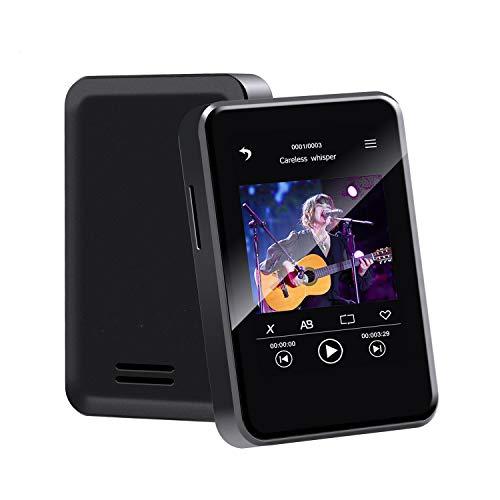 【全画面タッチ Bluetooth5.0】Wowcam ミニMP3プレーヤー 2.4インチ 16GB大容量 コンパクトで軽量 HIFI高音質 音楽プレーヤー デジタルオーディオプレーヤー 内蔵スピーカー付き ストラップ付き ランニングに適用