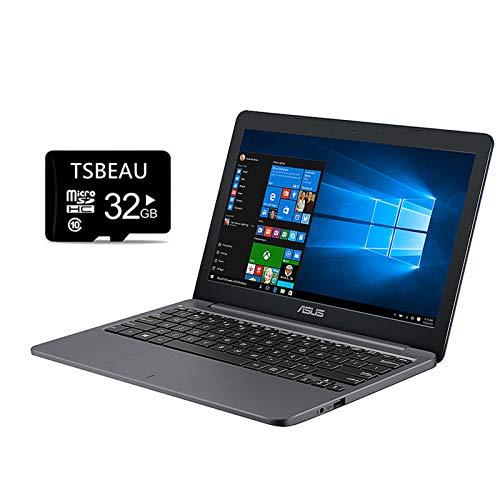 "ASUS VivoBook L203NA Laptop, 11.6"" HD Display, Intel Celeron N3350 Processor, 4GB RAM, 64GB eMMC, One Year Microsoft 365, Windows 10 Home in S Mode, Bundle with TSBEAU 32GB Micro SD Card"