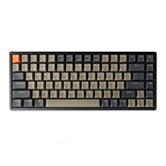 A 75% layout (84-key) RGB backlight compact Bluetooth mechanical keyboard. The ultimate tenkeyless keyboard that retains shortcut and arrow keys. Aluminum frame.Double Shot PBT keycaps built with oil-resistant and scratch-resistant coating. Connects ...