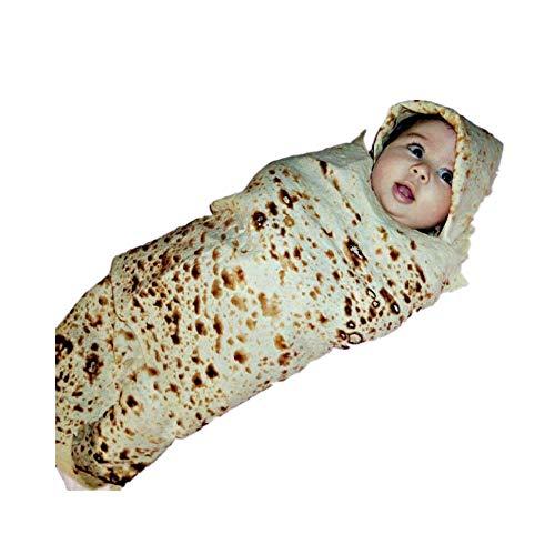 Komfort Baby Burrito Decke Set,Ewendy Baby Mehl Tortilla Swaddle Decke Schlafen Swaddle + Wickelhut für Unisex Babys (0-3 Monate),Soft
