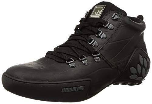 Woodland Men's Black Leather Sneaker-6 UK (40 EU) (GC 1869115)