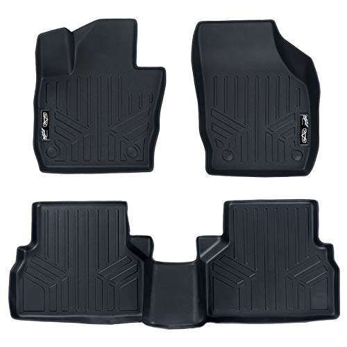 MAXLINER Custom Fit Floor Mats 2 Row Liner Set Black for 2015-2018 Audi Q3 - All Models