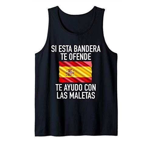 Si esta bandera te ofende te ayudo con las maletas España Camiseta sin Mangas