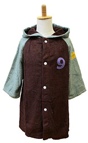 tanaka NUMBER-COLOR 今治タオル キッズバスローブ S 着丈約48×幅39cm チョコレート NO.9
