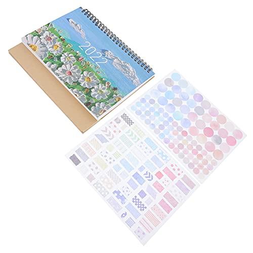 Yardwe Staande Bureau Kalender 2022 Mini Desktop Flip Maandelijkse Kalender Schema Planner Grote Geschenken voor School…