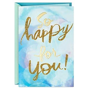 Hallmark Congratulations Card or Graduation Card  So Happy for You