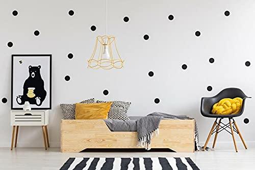 Mami | Cama para niños | Cuna Montessori Honey | Colchón Smart (no incluido) Altura niño | Color madera natural | Grabado personalizado con el nombre