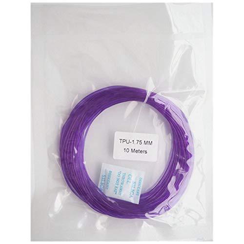 3D-Druck Filament, Fayella 1,75 mm, 10 m, 30 g, weiches, flexibles Gummi-TPU-Filament, Probe, 3D-Drucker, Verbrauchsmaterial, Stift, Druckzubehör, durchscheinend, lila