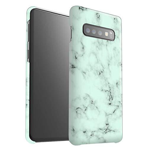 eSwish Mat Snap-On hoes/Case voor Samsung Galaxy S10 Plus/groen patroon/marmer graniet effect-collectie