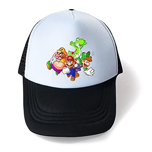 XINGAN Super Mario Sombrero Super Mario Verano Niños Sombrero Mario Boys Mesh Cap Transpirable Big Kids Sun Hat Ocio