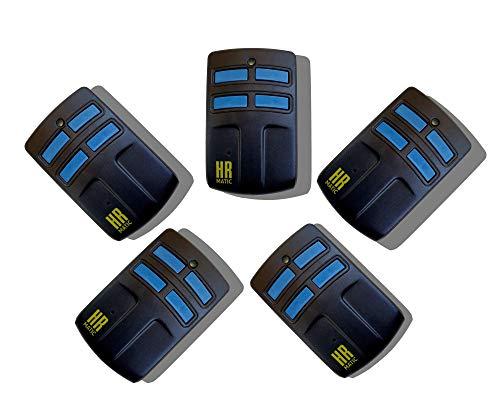Pack 5 unidades mando de garaje universal HR MATIC MULTI 2