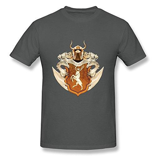 Accessory Innovations AOPO Juego de Tronos Baratheon Ours es el Fury O-Neck Camisetas para Hombres