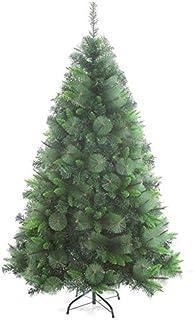 クリスマスツリー 電飾 飾り ジッパー人工クリスマスツリー、クリスマスの装飾インドアグリーンのために環境に優しいクリスマスパインツリーメタルスタンド 1112 (Color : Green, Size : 5Ft(150CM))