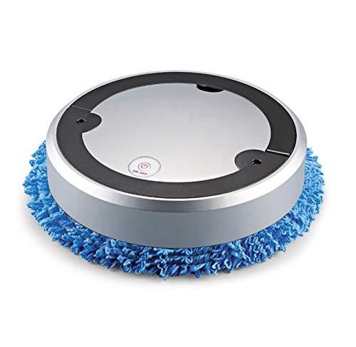 YALIXI Aspiradora, Máquina De Limpieza De Trapeador Inteligente De Barrido Silencioso Máquina De Barrido En Seco Y Húmedo,Plata