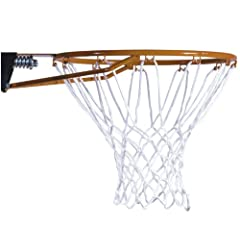 """18"""" Rim is constructed from 5/8"""" solid steel for suerior strength and durability 70G All-weather net and hardware included Double compression springs for back action Compatible with most lifetime basketball systems; Call 1-800-225-3865 to check compa..."""