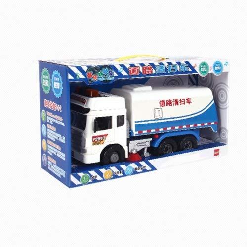 Lihgfw Kinder großer Trägheits-Kehrsperg der Kinder Müll sanitäre Fahrzeugstraßen-Kehrmaschine Modell Simulation Junge Engineering Fahrzeug beige (Color : Blau)