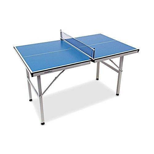 Relaxdays Mesa Ping Pong Exterior Plegable con Red, Niños, Azul, 75 x...