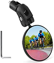 Mempedont bike mirror, bicycle riding rearview mirror, HD safety rearview mirror, convex mirror with adjustable handlebar installation, suitable for mountain road bikes