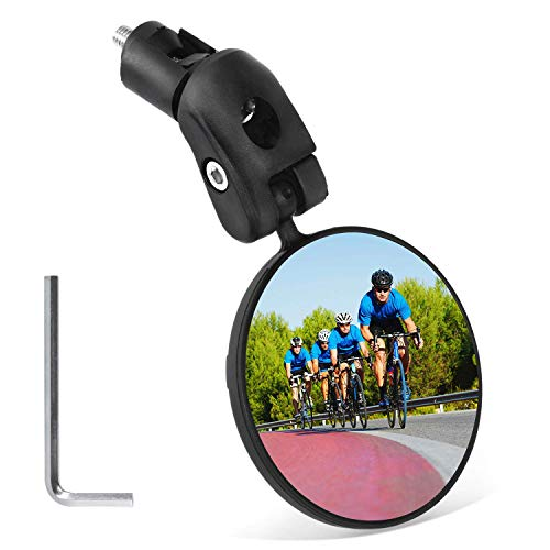 Bicycle Adjustable 360 ° Rearview Mirror Belt Buckle Handle Safety Mirror