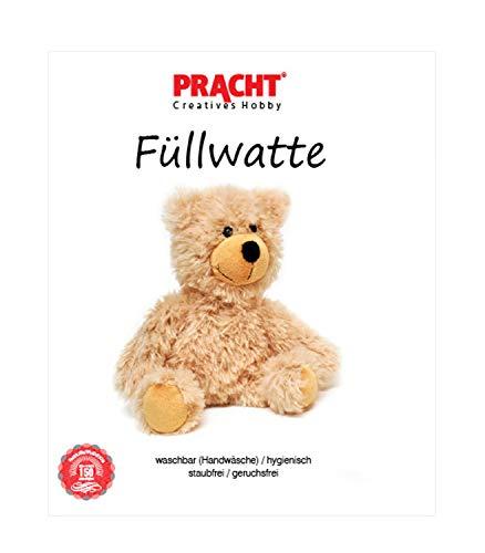Pracht Creatives Hobby 4708-02112 - Füllwatte weiß, Beutel mit 300 g, waschbar, hygienisch, staub- und geruchsfrei, hochflauschig, zum Füllen von Puppen, Teddybären und Kissen