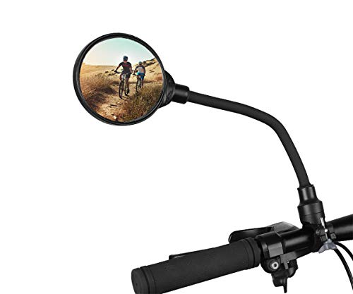 auvstar Espejo Retrovisor Bicicleta,Espejos de Bicicleta/Ciclismo,Manillar Giratorio Ajustable Montado Plástico Espejo Convexo para Mountain Road Bike E-Bike Xiaomi Mijia M365 Patinetes Eléctricos