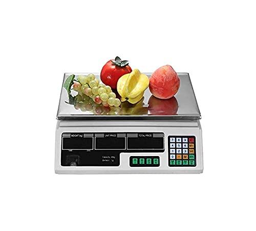 FGDFGDG Digital Libra 40kg / 2g Cálculo de Precios electrónicos Escalas de Acero Inoxidable Cocina Digital Libra Libra Libra Scales industriales Pantalla LCD con función de pelado nulo,Negro,40kg/2g
