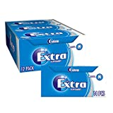 Extra Chewing Gum, Sugar Free, Peppermint Flavour, 12 Packs of 14 Pieces