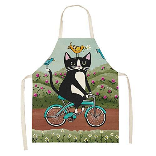 Elibeauty Schürze, Cartoon Katze Multifunktionale Küchenschürze Kreative Koch Kochschürze Schürzen für Männer, Schürzen für Frauen (#4)