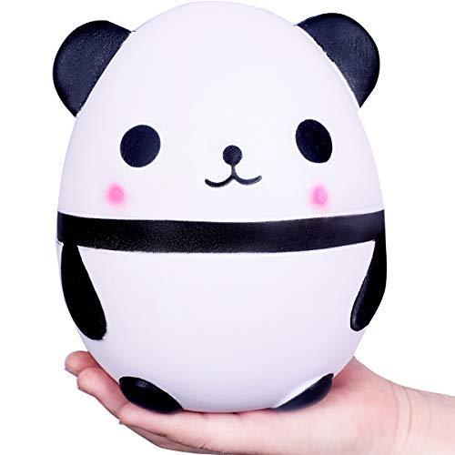 Squishy Jumbo Langsam steigende Panda Creme duftende Kawaii Squishies Spielzeug reizendes Stressabbau-Spielzeug Großer Panda (Panda 01) (Weiß)