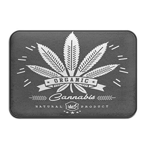 DaiMex Felpudo Alfombrilla Antideslizante Alfombra Antideslizante Alfombra 40X60CM Aceite Verde Marihuana Cannabis...