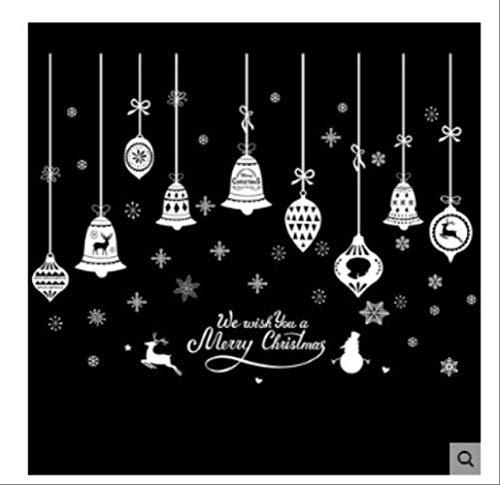 Wandaufkleber Weihnachten Glas Aufkleber Ornament Große Bekleidungsgeschäft Weiße Karikatur Verkleiden Sich Geschenk Tür Fenster Malen
