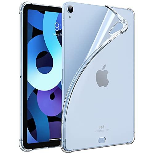 Dadanism Custodia Compatibile con iPad Air 4 (4a Generazione) iPad 10.9 Pollici 2020, Custodia Protezione in TPU Morbido, Angoli Rinforzati, Leggero e Ultra Sottile Case per iPad, Transparente