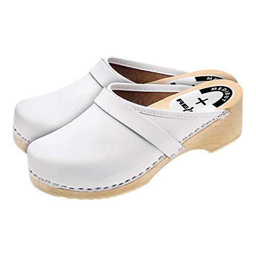Medibut BMDREGLW43 - Zapatillas de Trabajo, Color Blanco, Talla 43
