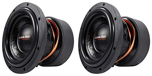 "(2) American Bass HD10D1 HD 10"" 4000w Competition Car Subwoofers 300 Oz Magnets"