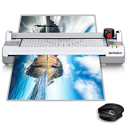13 inches Laminator Machine for Home Office School Use,6 in 1 Thermal Laminator...