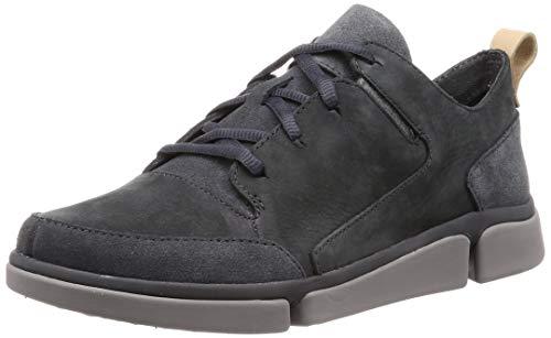Clarks Herren TriVerve Lace Sneaker, Grau (Dark Grey Nubuck), 43 EU