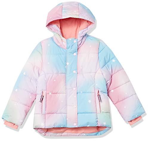 Amazon Essentials Heavy-Weight Hooded Puffer Jackets Abrigo de Vestir, Ombre Rosa con Estrellas, 6-7 años