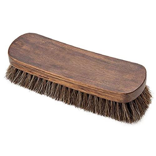 Froiny Piel Y Textil 1pc Cepillo De Limpieza Crin Natural Limpiabotas Cepillo para Botas De Cuero De Zapatos De 8 Pulgadas