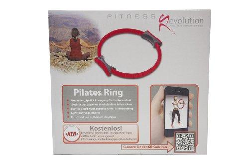 Fitness Revolution Pilates Ring mit QR Code und damit Zugang zur Fitness Revolution World mit kostenlosen animierten Trainingsvideos, Ernährungstips und persönlichen Trainingsanleitungen