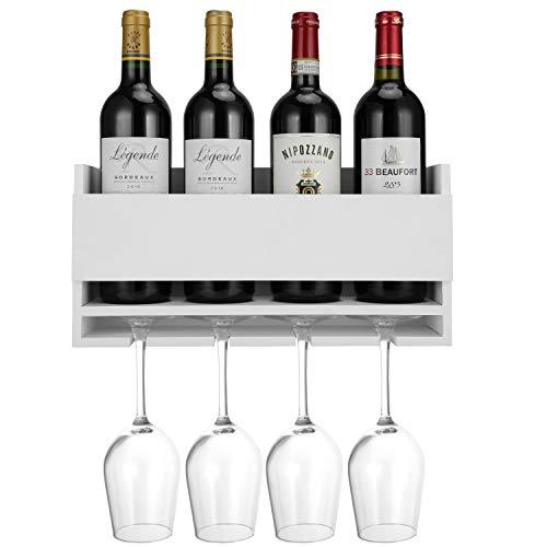 Halcent Porta Vino Portabottiglie Vino da Parete Porta Bottiglie Porta Vino Scaffale