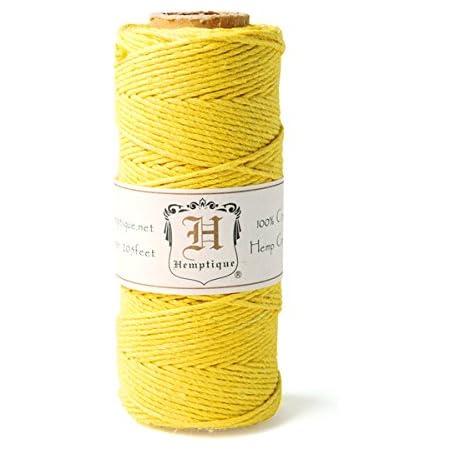 Hemptique Corde de Chanvre Bobine 20# 205 Pieds//pkg-Capuccino