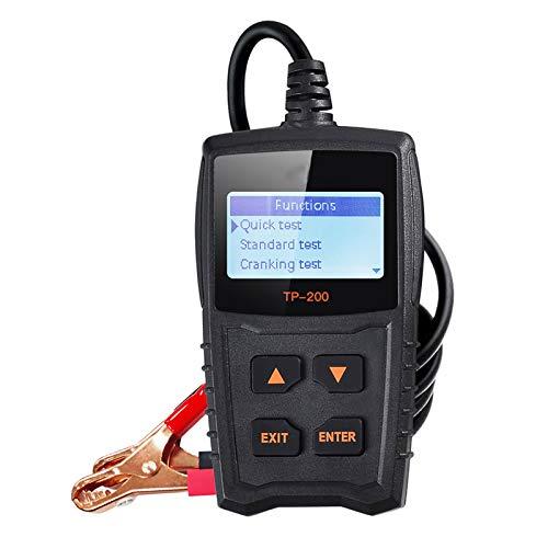 Probador de batería de Coche de 12 V, analizador de batería de Coche Universal Profesional con Pantalla LCD de 2,4 Pulgadas para Prueba de batería, Prueba de Sistema de Arranque y Carga