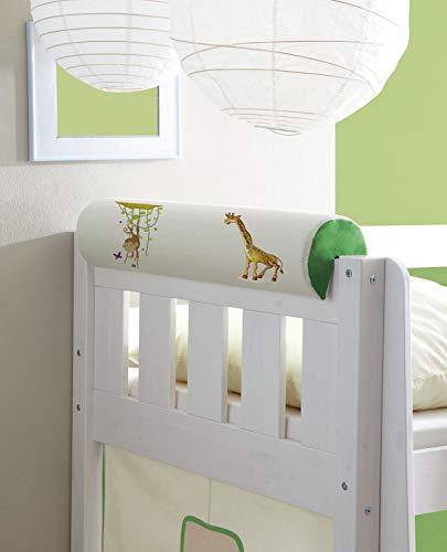 Nackenrolle Nackenkissen für Kinderbetten mit Farbauswahl, Vorhangstoff:Safari