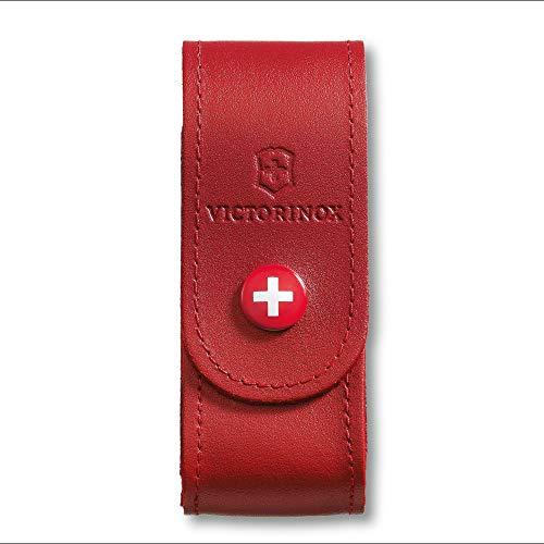Victorinox - Etui en Cuir Rouge Victorinox - pour Couteau Suisse de Longueur 91 mm