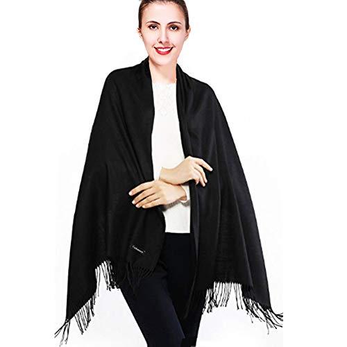 iEverest Inverno Sciarpa Pashmina Super Morbido Colore Solido Sciarpa per Uomini e Donne Inverno Caldo Grande Sciarpa di Spessore Avvolge Scialle Lungo Sciarpe 200 * 70cm 2019