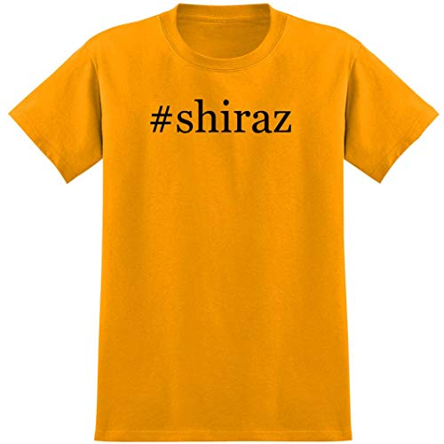 #shiraz - Soft Hashtag Men's T-Shirt, Gold, Large