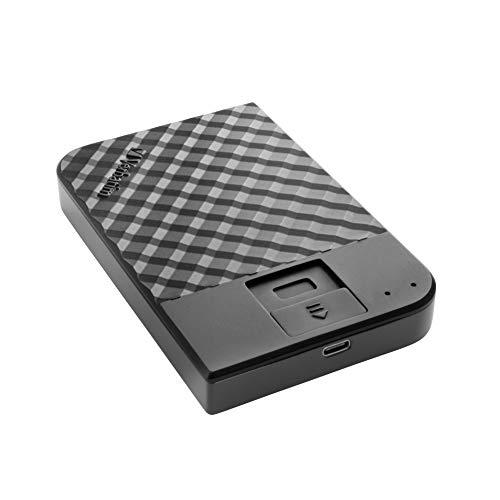 Verbatim Fingerprint Secure Tragbare Festplatte - 1 TB - externer Datenspeicher mit Fingerabdruckscanner zum Schutz Ihrer Daten, schwarz